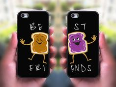 Click To Buy It!!! Jelly and Peanut Butter Best Friends Cell Phone Case for iPhone and Samsung Series,Two Differrent Phone Models Mixed OK