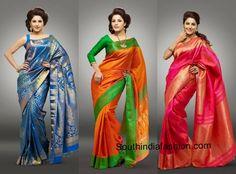 purple and white pattu saree - Google Search