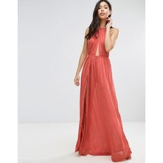 ASOS Slinky Maxi Beach Dress with Braid Strap (160 BRL) ❤ liked on Polyvore featuring dresses, tan, viscose maxi dress, tall maxi dresses, spaghetti-strap maxi dresses, maxi dresses and tan maxi dress