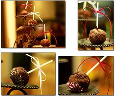 cheesecake pops | pops visit the daring bakers blogroll for the cheesecake pops recipe ... Dessert Drinks, Dessert Recipes, Desserts, Cheesecake Pops, Lollipops, Creative People, Baked Goods, Great Recipes, Make It Yourself