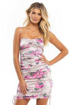 Valentine's Day– Sugarillashop.com Satin Midi Dress, Floral Midi Dress, Floral Dresses, Purple Peonies, Stretch Satin, Girls Night Out, Dresses For Sale, Short Dresses, Floral Prints