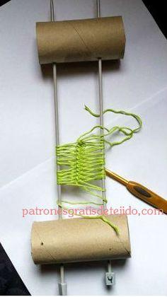 Aprende a tejer con horquilla paso a paso