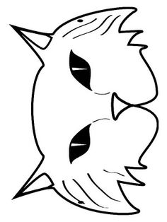 Masks coloring page 16