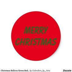 Christmas Balloon Green Red Sticker by Janz Christmas Balloons, Christmas Stickers, Green