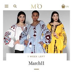 [march eleven] THE EMBROIDERED DRESS hello@march11.us SHOP EXCLUSIVELY AT