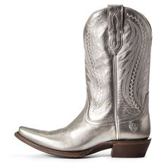 Tailgate Western Boot - #metallicleather - Tailgate Western Boot... Gold Ballet Flats, Leather Ballet Flats, Leather Sandals, Block Heel Loafers, Heeled Loafers, Nike Pro Women, Fashionable Snow Boots, Black Pumps Heels, Western Boots