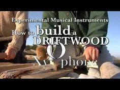 "This is Bart Hopkin, the doyen of junk and homemade instruments showing how to make a xylophone from nothing more than some driftwood and some towels.  It sounds amazing and there is some very funky music going on here.  Bart's site is www.windworld.com and his wonderful books, like ""Musical Instrument Design"" and ""Making Musical Instruments with Kids"" which are available from Amazon."