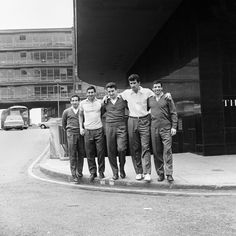 The Argentina football squad including captain Antonio Rattin outside the Albany Hotel Birmingham in July 1966.