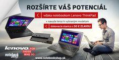 Lenovo ThinkPad T550, T450 - Teraz so zľavou 50 € na dokovaciu stanicu! Notebooky ThinkPad T550 a T450 určené pre mobilných profesionálov. Maximálna odolnosť a spoľahlivosť v kombinácii s vysokým výkonom a najnovšími technológiami.