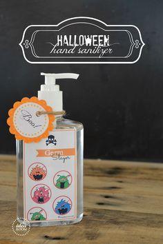 Halloween Hand Sanitizer |theidearoom.net