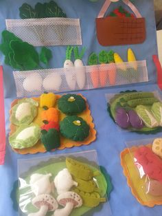 Vegetable shop Play food Felt story board by StoriesInMyPillow