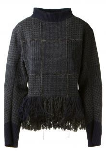 Sacai Houndstooth pattern pullover