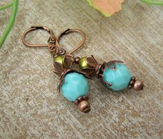 Ohrringe - Ohrringe ๑Leonie๑ Vintage - ein Designerstück von elfengeschmeide bei DaWanda
