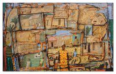 Charlie Baird - Paintings - Shanty Town 2, Caribbean
