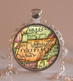 Tennessee map pendant, Map Necklace, Map Charm, Map Jewelry, Tennessee state Pendant, Tennessee state Jewelery pendant,Tennessee jewelry
