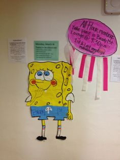 Floor Meetings Poster: Spongebob Theme
