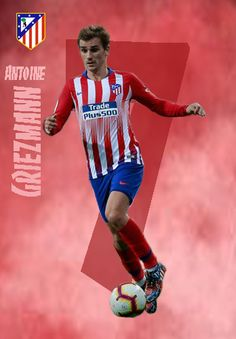 Antoine Griezmann of Atletico Madrid in At Madrid, Sports Celebrities, Antoine Griezmann, Physical Activities, Neymar, Football Players, Manchester United, Fifa, Poses