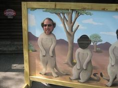 This 'photo-op' for up to three is in front of the Sadler Building in the Capron Park Zoo.