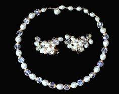 Items similar to Purple Prom Jewelry Set Swarovski Tanzanite Crystal Y Necklace Lariat Necklace Purple Crystal Formal Jewelry Set Necklace Earring Set Stacey on Etsy