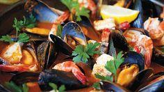 Bouillabaisse recipe : SBS Food Fish Recipes, Seafood Recipes, Beef Recipes, Whole Food Recipes, Easy Delicious Recipes, Yummy Food, Tasty, Bouillabaisse Recipe, Sbs Food