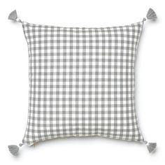 Grey Gingham Pillow