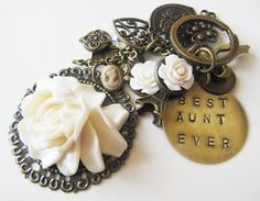 Best Aunt Ever initial keychain, hand stamped, by romanticcrafts, $24.00