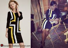 Buy Mindy Kaling's The Mindy Project Graphic Lines Dress, here!