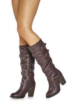 5a3bad544e6d JustFab. Just Fab BootsCool PresentsHigh Heel ...