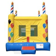 Commercial Birthday Cake 2 Bounce House #sale #commercialinflatables #bouncehouse