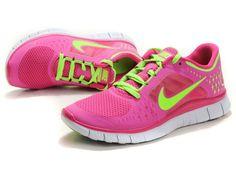 Vendre Pas Cher Femme Nike Free Run 3 Rouges Verte en ligne dans France - VendreFree.com