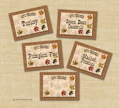 bnute productions: Free Printable Give Thanks Thanksgiving Menu Cards