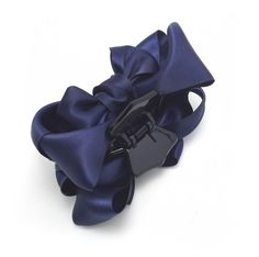 Meilliwish Satin Bow Fabrics Hair Claw Clip (D04) (Dark Blue) (D04) -- This is an Amazon Affiliate link. Want to know more, click on the image.