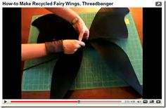 homemade fairy wings - Mommy Website - tutorials - 4 wire hangers, colored duct tape, paint, panty hose