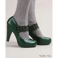 miss me green mary jane heels