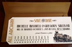 save the date ticket - Google Search