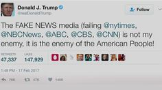 "Trump's rally in Florida came as he faced harsh criticism throughout the day Saturday from Arizona Senator John McCain and others after Trump tweeted Friday night, ""The FAKE NEWS media (failing @nytimes, @NBCNews, @ABC, @CBS, @CNN) is not my enemy, it is the enemy of the American People!"" This is McCain speaking to Chuck Todd in an interview on NBC's ""Meet the Press.""  Sen. John McCain: ""A fundamental part of that new world order was a free press. I hate the press. I..."