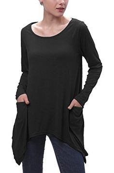 Urban CoCo Womens Swing Pocket Tunic Long Sleeve Handkerchief Top   Read  more at the image link. (Note Amazon affiliate link) 92b699464560