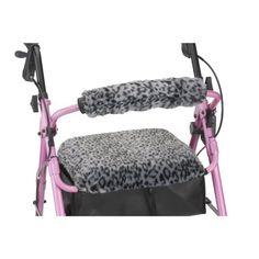 NOVA Medical Products Seat & Back Cover for Rolling Walker, Snow Leopard