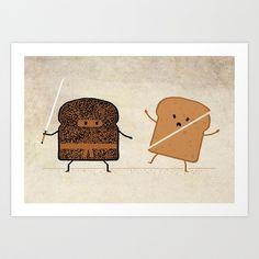 Kitchen fun again...  Slice! Art Print by Teo Zirinis - $16.00