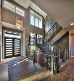 Entry Staircases Photo Gallery Custom Homes in Kansas City KS Starr Homes Dream House Interior, Luxury Homes Dream Houses, Dream Home Design, My Dream Home, Home Interior Design, House Design, Door Design, Exterior Design, Style At Home
