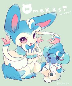 Cubchoo and Shiny Sylveon
