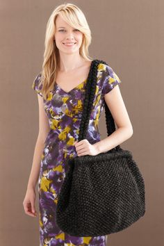 This knitted bag is big enough to carry all of life's essentials.