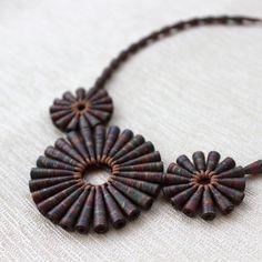 Rústico tesoro collar  collar marrón  regalo de joyería
