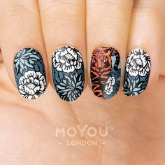 Suki nails are inspired by traditional Japanese painting, cute modern cartoons and popular tattoo design. It's an eclectic, even chaotic collection but then that is what makes it so authentically Japanese. Stamping Nail Polish, Summer Toe Nails, Image Plate, Manicure At Home, Popular Tattoos, Mani Pedi, You Nailed It, Hair And Nails, Tattoo Designs