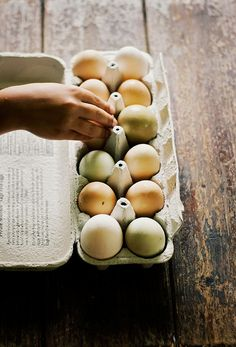 Beautiful colored fresh eggs