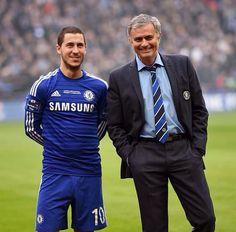 Eden Hazard & José Mourinho ~ Capital One Cup Final vs. Tottenham 3-1-2015