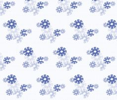Snowflake Daleks - TardisBlue fabric by 3o'clockbadger on Spoonflower - custom fabric