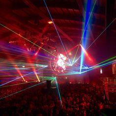 By philihps: Great party at #Pandemonium in #Amsterdam! #lufthansa #party #oldschool #music #hardcore #sporthallenzuid #gabber #lasershow #cyndium #gabber #gabermadness