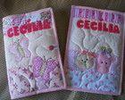 kit capa caderno + cartão de vacina rosa