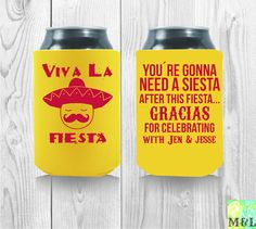 Customized Viva La Fiesta Mexican Theme Party by MintandLemon 50th Birthday, It's Your Birthday, Wedding Koozies, Housewarming Party, Fiesta Party, Drink Sleeves, Party Favors, Party Themes, Cool Designs